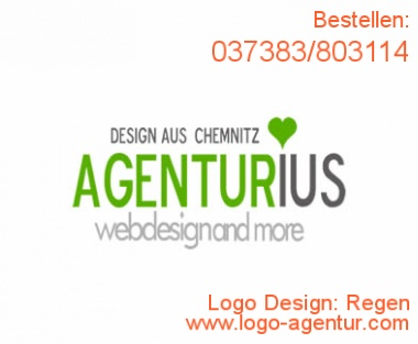 Logo Design Regen - Kreatives Logo Design