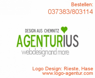 Logo Design Rieste, Hase - Kreatives Logo Design