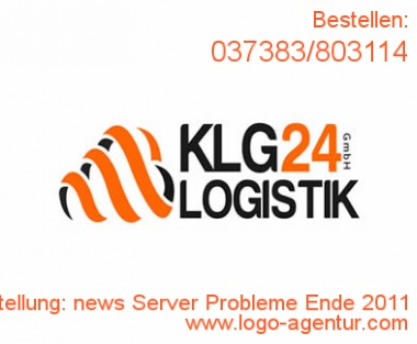 Logo Erstellung news Server Probleme Ende 2011 - Kreatives Logo Design