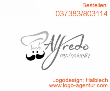 Logodesign Halblech - Kreatives Logodesign