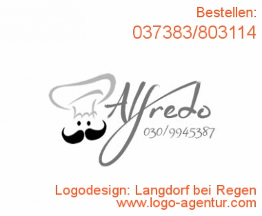 Logodesign Langdorf bei Regen - Kreatives Logodesign
