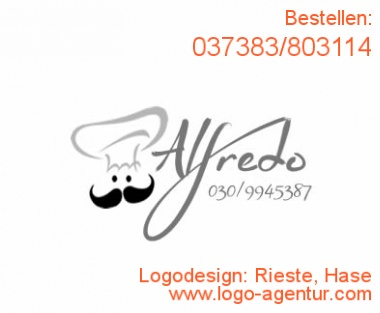 Logodesign Rieste, Hase - Kreatives Logodesign