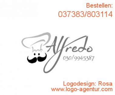 Logodesign Rosa - Kreatives Logodesign